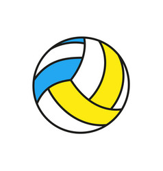 volleyball ball icon on white background vector image vector image