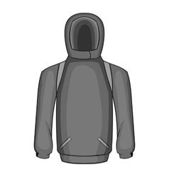 Men winter sweatshirt icon gray monochrome style vector