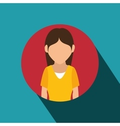 Young woman avatar isolated icon vector
