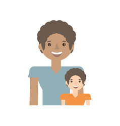 Dad and kid infant image vector