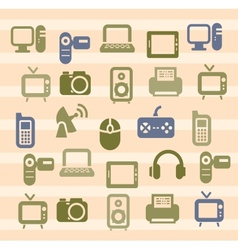 Devices icons vector