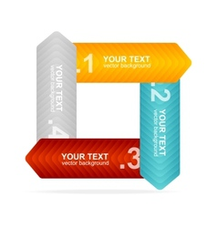 Colorful text box 1234 concept vector