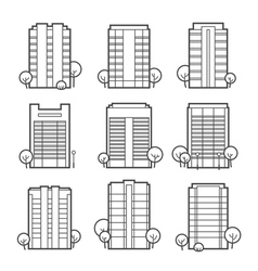 Apartment building icons vector
