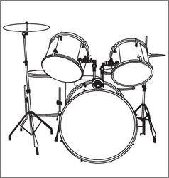 Drum music vector