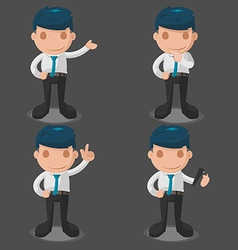 Man business cartoon set vector