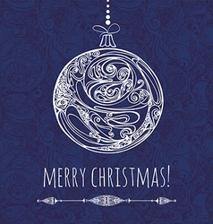 Christmas decoration new year card vector