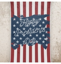 Happy presidents day on us national flag banner vector