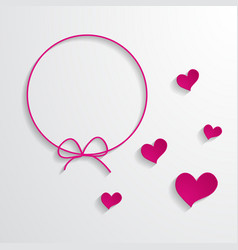 Pink frame and hearts vector