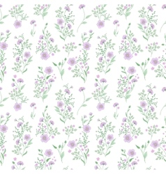Small flower pattern Vintage floral seamless vector image