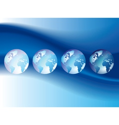 Background with globes vector