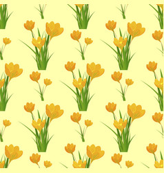 Beautiful flower tulip seamless pattern background vector