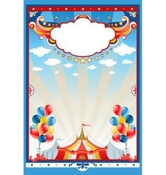 Circus tent background vector image