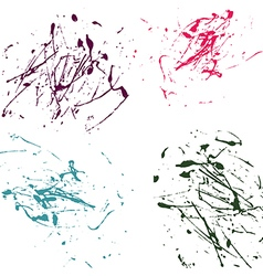 Color splatter paint abstract on white background vector