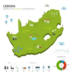 Energy industry and ecology of lebowa vector