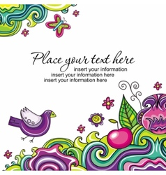 floral card series 12 vector image vector image