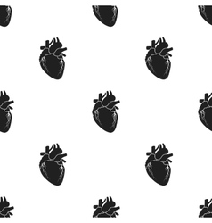 Heart icon in black style isolated on white vector image vector image