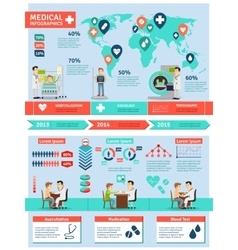 Medical infographics set vector