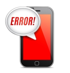 Mobile phone error message vector