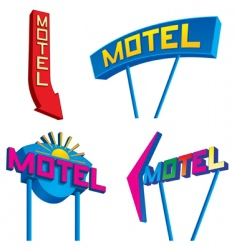 motel signs vector image vector image