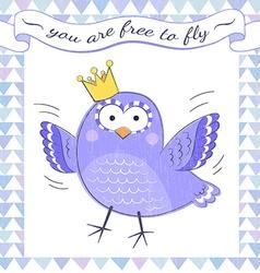 poster bird vector image vector image