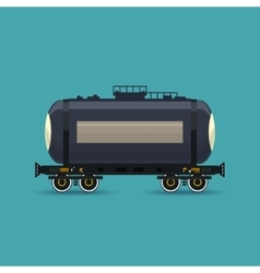 Railway tank car isolated vector
