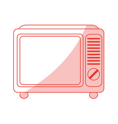 Retro tv design vector