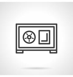 Safe box front black line icon vector image