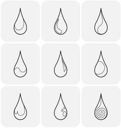 Set of symbols of a drop water vector
