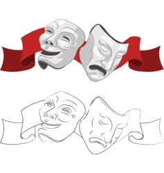 trical masks vector image