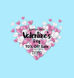 valentines day card or sale banner 3 vector image vector image