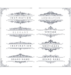 Vintage calligraphic ornaments and frames vector image
