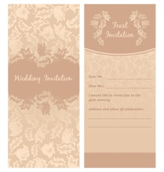 wedding invitation flowers ornament background vector image