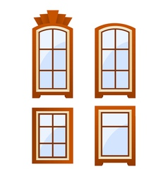 Window icons vector