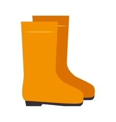 Yellow boots industrial security equipment vector