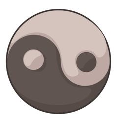 Ying yang icon cartoon style vector