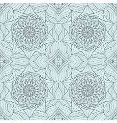 Seamless abstract ornament stencil round pattern vector
