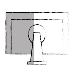 Monitor computer desktop icon vector