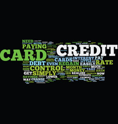 Five simple ways to regain credit card control vector