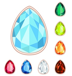 Gemstone set vector
