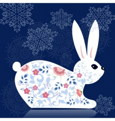 Decorative bunny vector