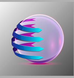 3d of the clear sphere vector image vector image