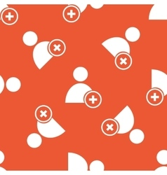 Orange add user pattern vector