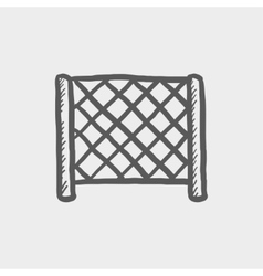 Ice hockey goal net sketch icon vector