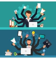 Office job stress work vector image