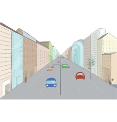 Urban landscape in flat design style vector