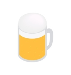 Mug of beer isometric 3d icon vector