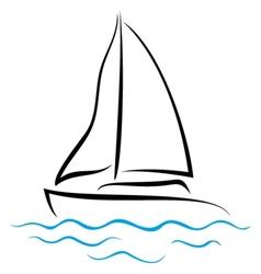 Emblem of Yacht vector image