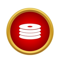 Cd disk icon simple style vector