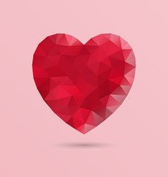 Abstract geometric heart shape vector image vector image