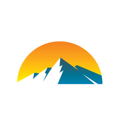 abstract mountain expedition logo image vector image